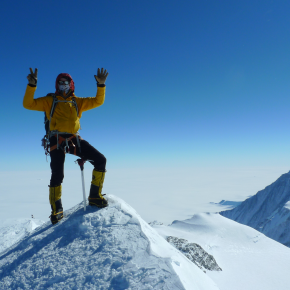 At the top of Mount Vinson