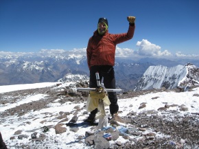 Martin at the top of Aconcagua