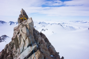 A first ascent in Antarctica