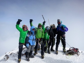 Celebrating on Elbrus with the team
