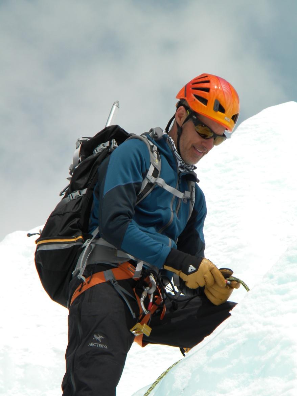 Martin on Louche acclimatization climb for Mount Everest