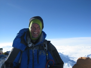 At the top of Mount Everest