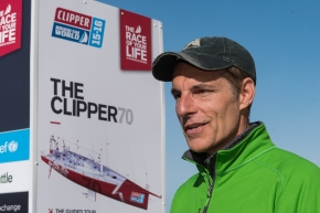 Martin in Seattle after completing the sixth leg of the Clipper Round the World Yacht Race