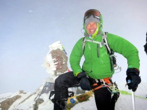At the top of Mount Elbrus